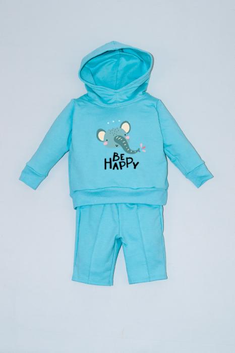 Hanorac cu pantaloni 3/4 Be Happy [0]
