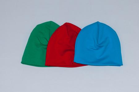 Caciulita Bumbac Simpla - Set 3Buc - Verde, Rosu, Albastru0