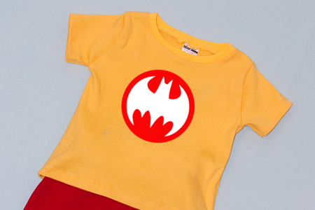 Compleu Tricou cu Pantalon Baggy Rosu Batman1