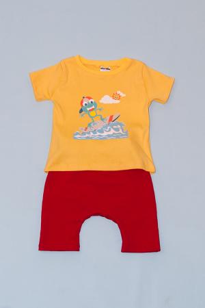 Compleu Tricou cu Pantalon Baggy Rosu Broasca Surfer0