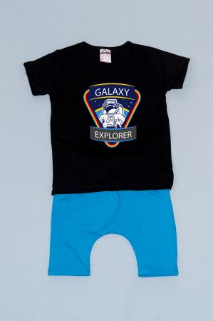 Compleu Tricou cu Pantalon Baggy Albastru Galaxy Explorer0