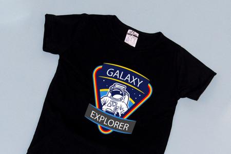 Compleu Tricou cu Pantalon Baggy Albastru Galaxy Explorer1
