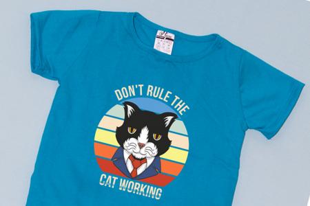 Compleu Tricou cu Pantalon Baggy Negru Business Cat1