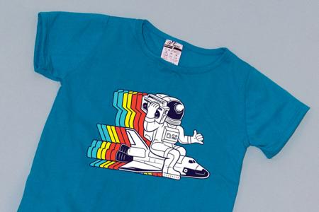 Compleu Tricou cu Pantalon Baggy Gri Astronaut1