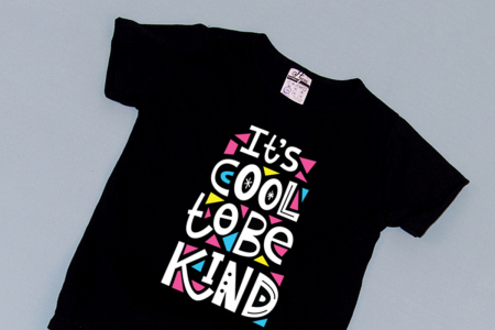 Compleu Tricou cu Pantalon Baggy Gri Be Kind1