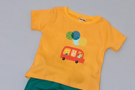 Compleu Tricou cu Pantalon Baggy Verde Car1