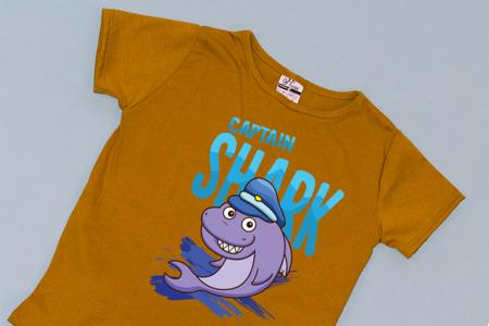 Compleu Tricou cu Pantalon Baggy Albastru Captain Shark1
