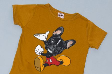 Compleu Tricou cu Pantalon Baggy Negru Mikey Dog1