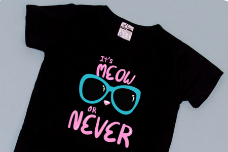Compleu Tricou cu Pantalon Baggy Roz MeOW or Never1