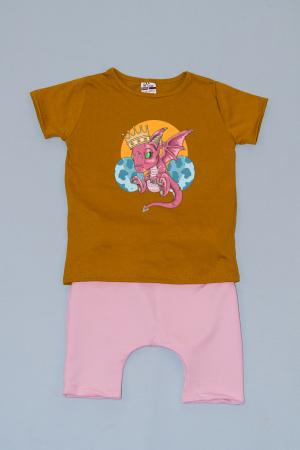 Compleu Tricou cu Pantalon Baggy Roz Mother of Dragons0