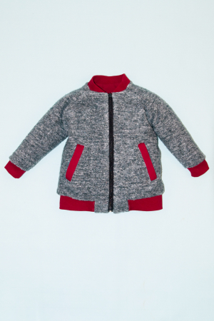 Jacheta lana - Gri Bucle0