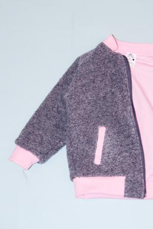 Jacheta lana - Grey cu interior Pink [1]