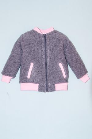 Jacheta lana - Grey cu interior Pink [0]