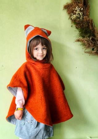 Poncho din lână -  Vulpiță [0]