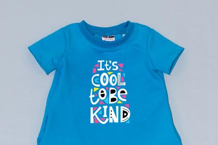 Rochie cocon albastra cu maneca scurta - Cool To Be Kind1