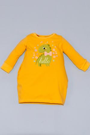 Rochie cocon galbenă cu mâneci lungi - Dino0