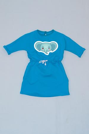 Rochie cu șnur în talie albastră - Elefănțel0