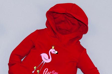 Rochie roșie cu glugă - Little Princess1