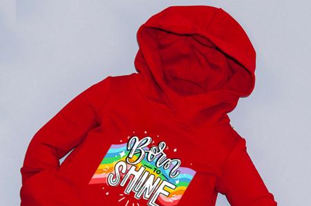 Rochie roșie cu glugă - Born To Shine1