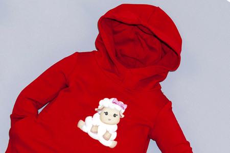 Rochie roșie cu glugă - Sweet Sheep1