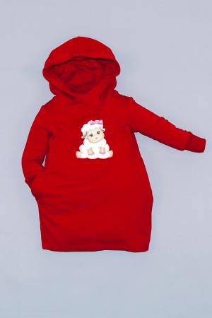 Rochie roșie cu glugă - Sweet Sheep0