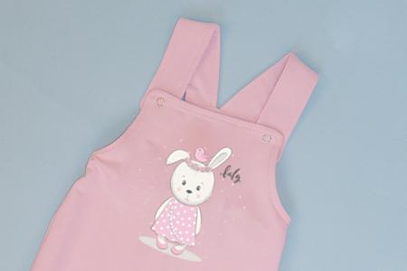 Salopeta Roz cu Bretele Baby Rabbit1
