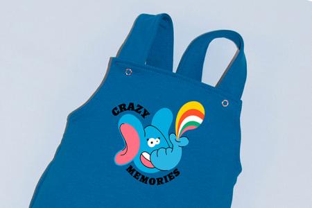 Salopeta Albastra cu Bretele Crazy Elephant [1]