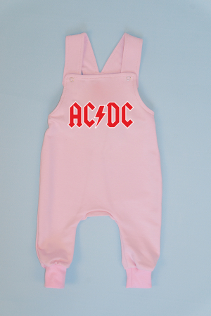 Salopeta Roz cu Bretele AC/DC0