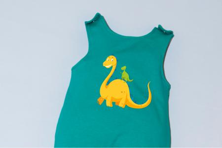 Salopeta Verde capse pe umar Dinozaur1