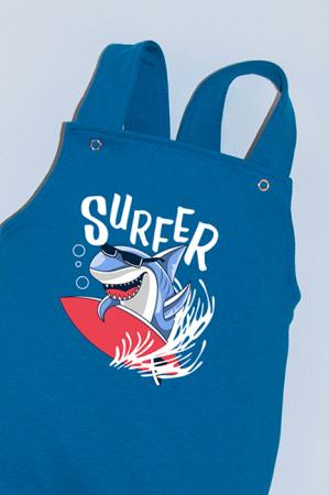 Salopeta Albastra cu Bretele Surfer Shark1