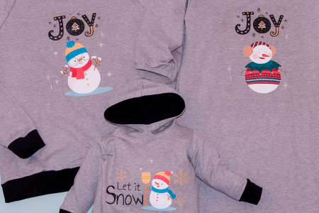 Set Snowman Family Gri1