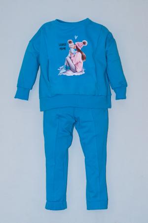 Trening Bumbac Bluza Oversize Albastru [0]