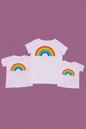 Set tricouri mama - 2 copii Curcubeu [0]