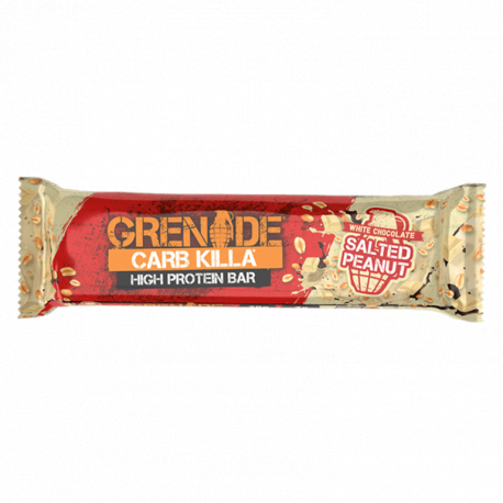 Baton Proteic Grenade CarbKilla Ciocolata Alba si Arahide Sarate 1