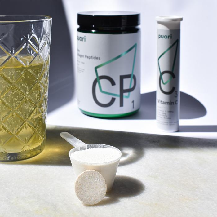 Pachet Colagen Hidrolizat Peptide CP1 & Vitamina C Puori 0