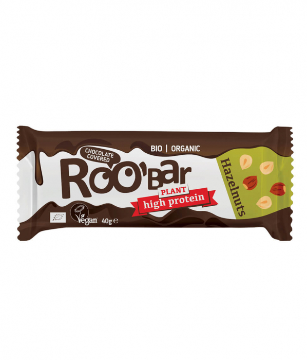 Baton Proteic, Alune de Padure si Ciocolata, Vegan, 40g 1