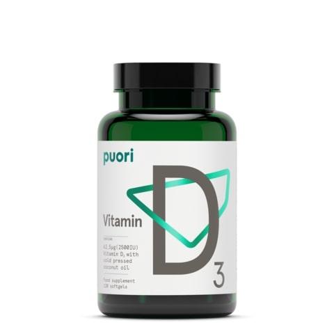 Puori D3 - Vitamina D din surse naturale (2500UI) [1]
