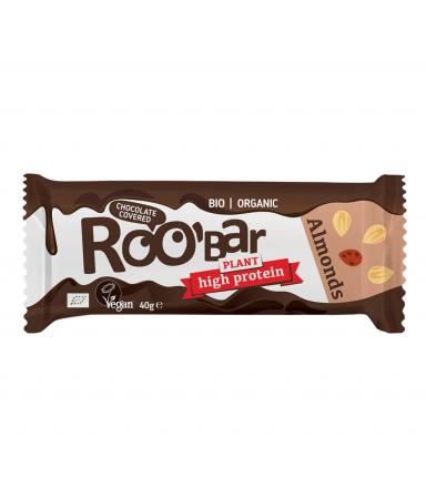 Baton Proteic, Migdale si Ciocolata, Vegan, 40g [2]