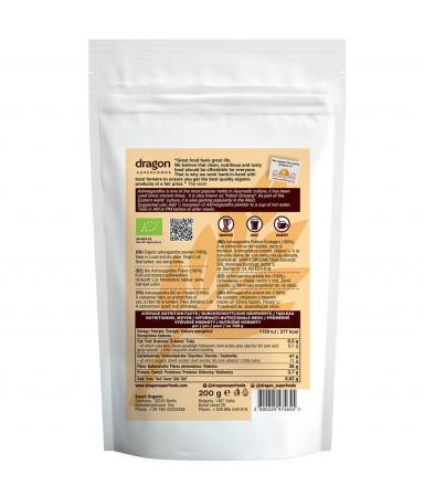 Ashwagandha, pulbere raw bio, 200g [2]