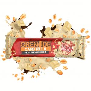 Baton Proteic Grenade CarbKilla Ciocolata Alba si Arahide Sarate 60 g0