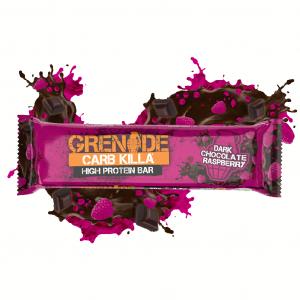 Baton Proteic Grenade CarbKilla Ciocolata Neagra si Zmeura 60 g0