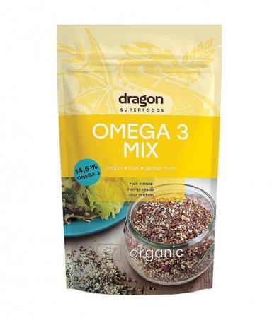 Mix Omega 3, Raw Vegan, Dragon Superfoods, Bio, 200 g [1]