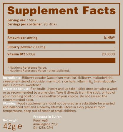Puori B12 - Vitamina B12 si Afine Sălbatice [2]