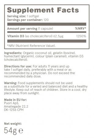 Puori D3 - Vitamina D din surse naturale (2500UI) [2]