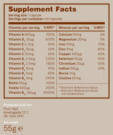 Puori VM - Multivitamine si Minerale - Vegan [2]