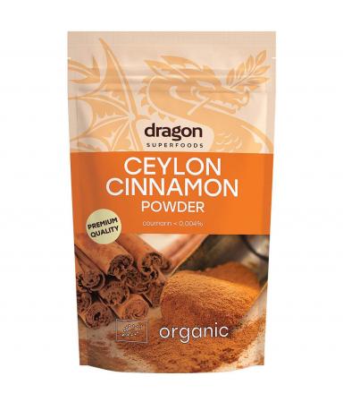 Scorțișoară Ceylon, pulbere raw bio, 150g [0]