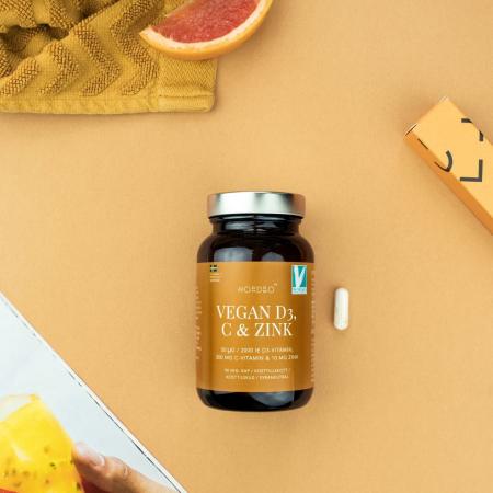 Vitamina D3, C & Zinc , NORDBO, Vegan, 90 capsule [0]