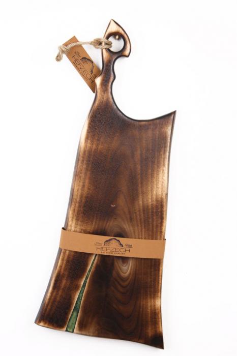 Platou servire din lemn de nuc cu rasina epoxidica [1]
