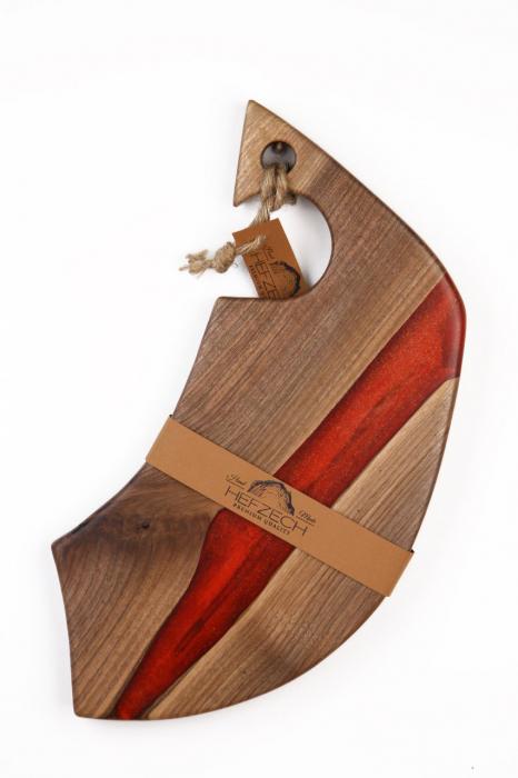 Platou servire din lemn de nuc 1