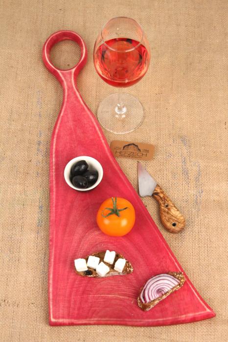 Platou servire din lemn de nuc colorat cu suc natural de sfecla rosie [0]